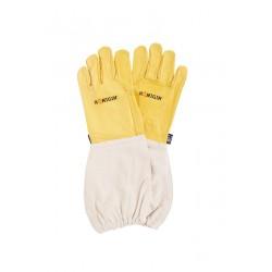 3 pary skórzanych rękawic pszczelarskich- żółte